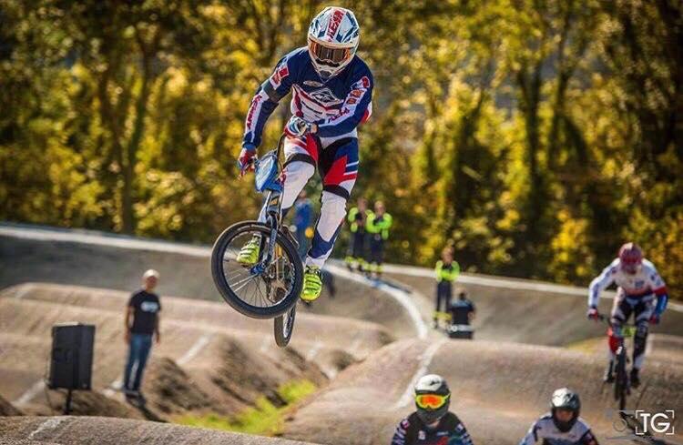 Gabin HUSER sportif de haut niveau du BMX Race