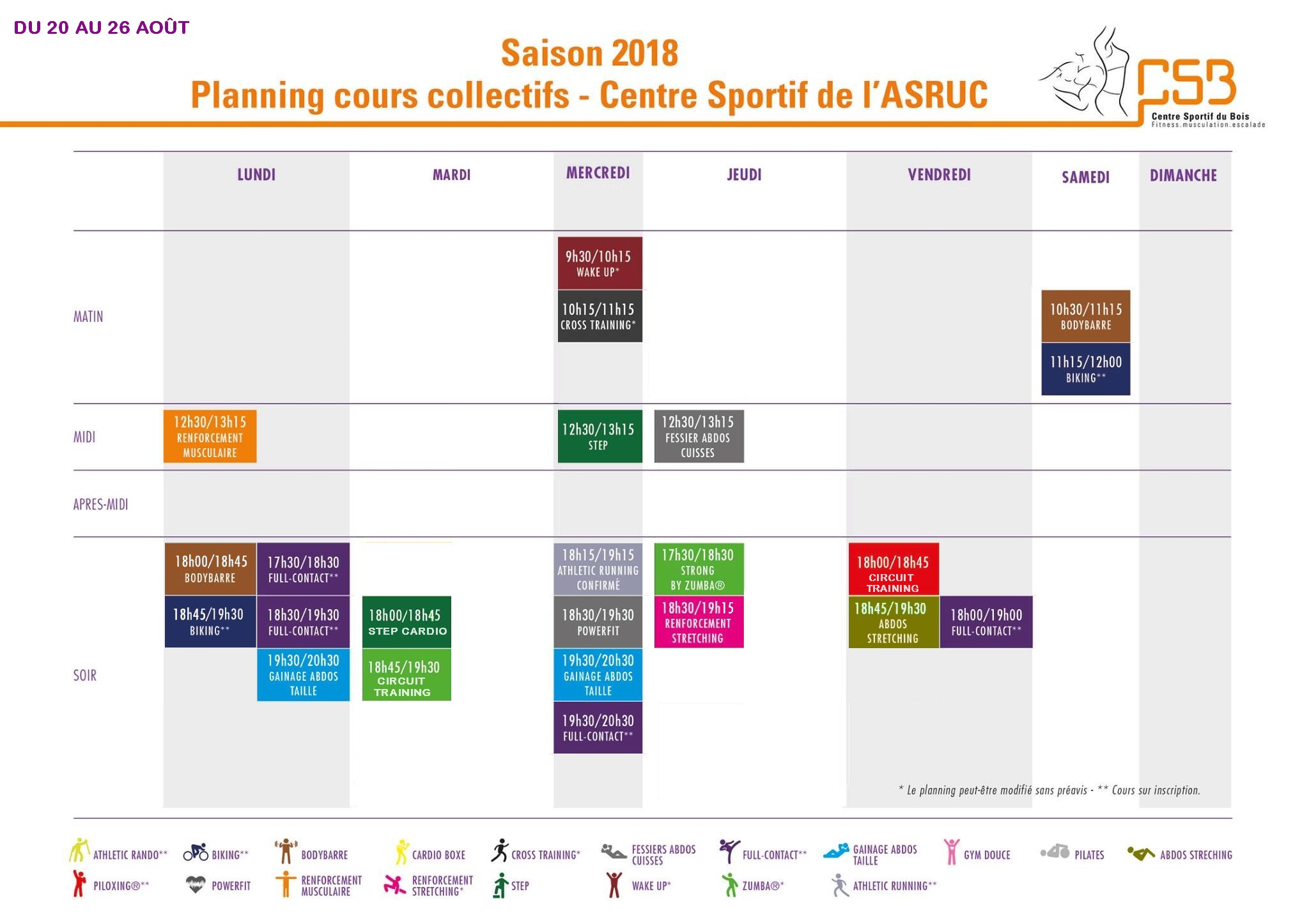 planning csb aout step boxe