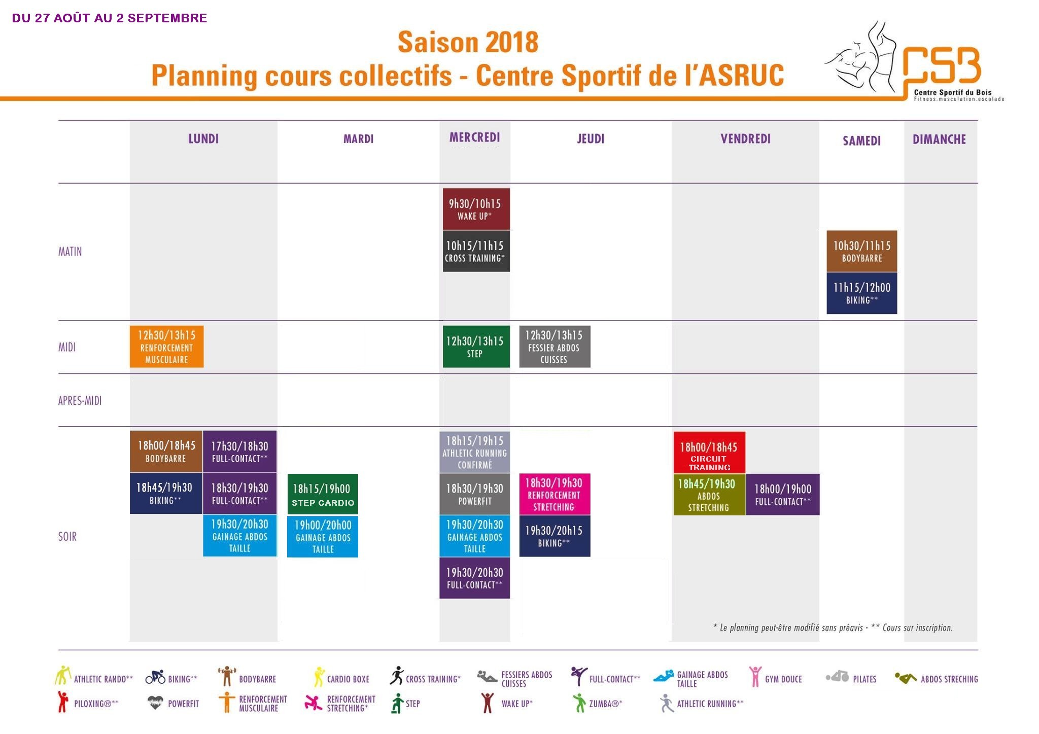 planning aout csb